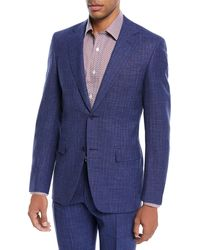 Canali - Bead Striped Wool-blend Two-piece Suit - Lyst