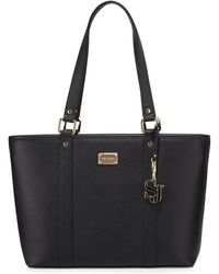 St. John - Faux-leather Zip-top Tote Bag - Lyst