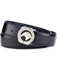 5fc8f3d68db Lyst - Gucci Crocodile Belt With Double G Buckle in Green for Men