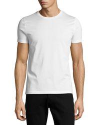 Moncler - Tricolor Side-stripe T-shirt - Lyst