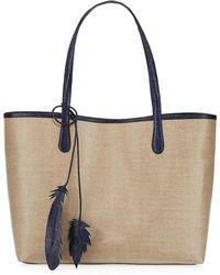 Nancy Gonzalez - Erica Medium Linen Leaf Tote Bag - Lyst