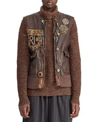 Ralph Lauren Collection - 50th Anniversary Hamlin Leather Vest W/ Patches - Lyst