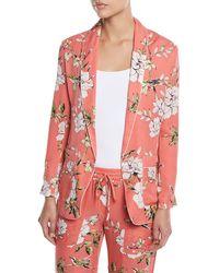 Joie - Anasophia Floral-print Silk Jacket - Lyst