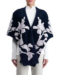 Gorski - Mink Stole With Floral Intarsia - Lyst