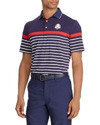 "Ralph Lauren - Men's ""thursday"" Usa Ryder Cup Striped French-knit Golf Polo Shirt - Lyst"