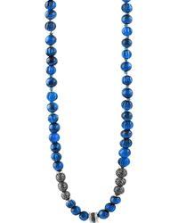 Tateossian - Men's The Formentera Sodalite Necklace - Lyst