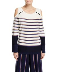 NIC+ZOE - Spring Ahead Striped Top - Lyst