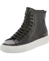 Common Projects - Tournament Leather High-top Sneaker - Lyst