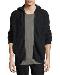 ATM - Wool Blend Teddy Zip Up Hood - Lyst