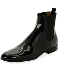 Gianvito Rossi - Alain Men's Patent Leather Chelsea Boot - Lyst