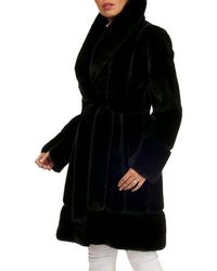 Zac Posen - Mink Fur Stroller Coat W/ Suede Inserts - Lyst