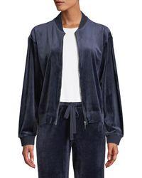 Natori - Velour Zip-front Jacket - Lyst