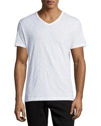 Vince - Slub Short-sleeve V-neck T-shirt - Lyst