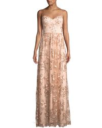 Aidan By Aidan Mattox - Floral Embroidered Sweetheart Gown - Lyst
