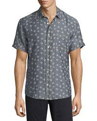 Billy Reid - Kirby Short-sleeve Sport Shirt - Lyst
