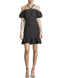 Shoshanna - Leonard Lipstick-print Halter Dress - Lyst