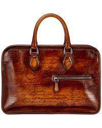 Berluti - Scritto Mini Leather Briefcase - Lyst