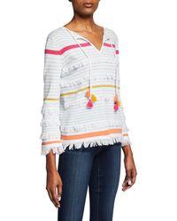 Lisa Todd - Classic Beach Fray Cotton Tassel Sweater - Lyst