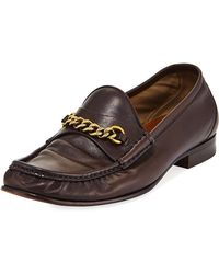 Tom Ford - Leather Chain-link Moc-toe Loafer - Lyst