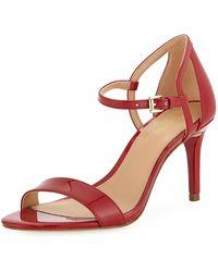 MICHAEL Michael Kors - Simone Patent Sandals - Lyst