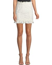 Lovers + Friends - Charlotte Eyelet Lace Mini Skirt - Lyst
