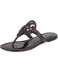 f95752c85343 Tory Burch - Miller Printed Flat Thong Sandals - Lyst