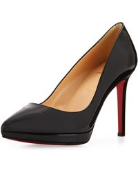 6b5960ec4307 Lyst - Christian Louboutin Pigalle Plato Patent Red Sole Pump in Red