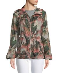 Mackage | Theroa Leaf-print Packable Rain Jacket | Lyst
