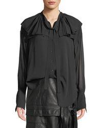 3.1 Phillip Lim - Silk Shirt W Ruffle Collar - Lyst