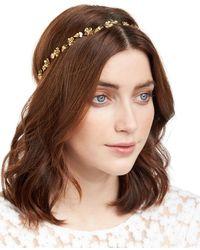 Jennifer Behr | Margaux Flower & Leaf Bandeau Headband | Lyst
