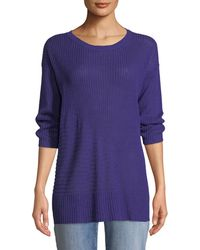 Eileen Fisher - Organic Linen 3/4-sleeve Easy Tunic - Lyst