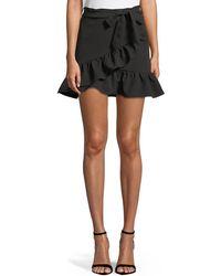 Bardot - Frill Wrap-front Mini Skirt - Lyst