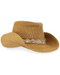 Eric Javits - Bayou Squishee Woven Fedora Hat - Lyst