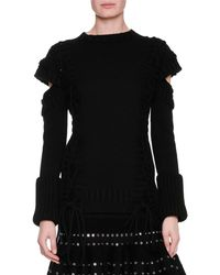 Alexander McQueen - Chunky Lace-up Detached-sleeve Pullover - Lyst