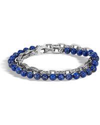 John Hardy - Men's Classic Chain Double-wrap Bracelet - Lyst