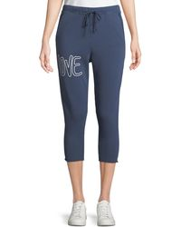 Frank & Eileen - Cropped Love Raw-edge Graphic Sweatpants - Lyst