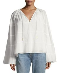 Elizabeth and James - Fleur Spiral Butterfly-sleeve Top - Lyst