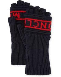 Moncler - Men's Logo Knit Fingerless Gloves - Lyst
