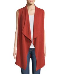 Neiman Marcus - Cashmere Variegated-rib Vest - Lyst