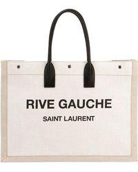 Saint Laurent - Noe Cabas Large Rive Gauche Canvas Tote Bag - Lyst
