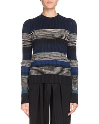 Proenza Schouler - Long-sleeve Striped Ribbed Sweater - Lyst