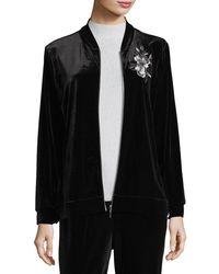 Joan Vass - Embroidered Velvet Jacket - Lyst