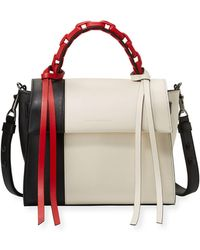 4643d922d3b7 Elena Ghisellini - Angel Small Abstract Colorblock Top Handle Bag - Lyst