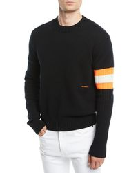 4fb2ced2f CALVIN KLEIN 205W39NYC - Men's Sleeve-striped Cashmere Sweater - Lyst