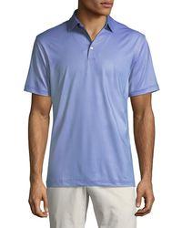 Peter Millar - Men's Micro Links-print Stretch Jersey Polo Shirt - Lyst
