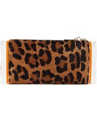 Edie Parker - Lara Leopard Calf-hair Clutch Bag - Lyst