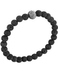 John Hardy - Men's Batu Classic Chain Volcanic Bead Bracelet - Lyst