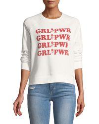 Rebecca Minkoff - Grl Pwr Long-sleeve Graphic-print Crewneck Sweatshirt - Lyst