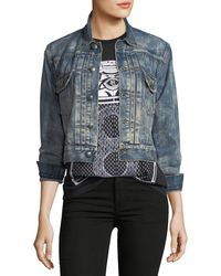 Ralph Lauren Collection - Del Ray Cropped Denim Jacket - Lyst