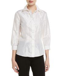 c27528a189c3f Carolina Herrera - Taffeta Button-front Shirt - Lyst